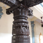 Ancient Pillar Made From Jack Fruit Wood